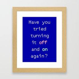 Tech suppor Framed Art Print
