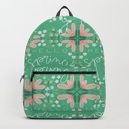 Green Hello Spring Backpack