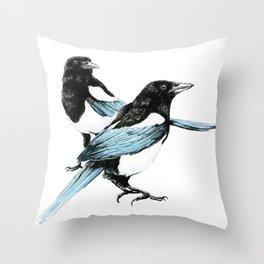 Magpie Dual Throw Pillow