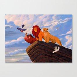 Lion Film Canvas Print