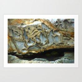 Natures Rock Monsters Art Print