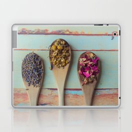 Three Beauties, Floral and Wooden Spoon Laptop & iPad Skin