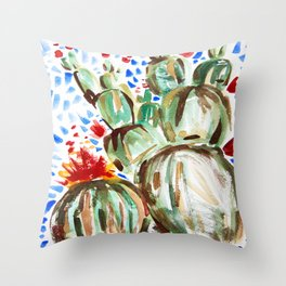 Melody Maker Plants Throw Pillow