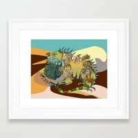 dune Framed Art Prints featuring Dune by Maria Paula Quiva