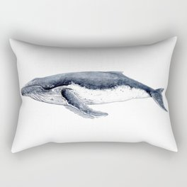 Humpback whale (Megaptera novaeangliae) Rectangular Pillow
