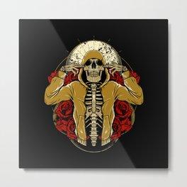 Hip Hop and Roses Metal Print