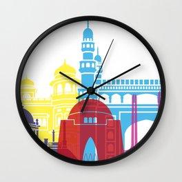 Karchi skyline pop Wall Clock