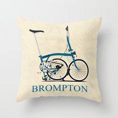 Brompton Bike Throw Pillow