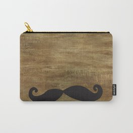My Suede Moustache Carry-All Pouch