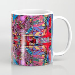 no. 131 multicolored with blue and red Coffee Mug