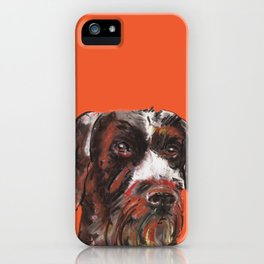 Hunting dog, printed from an original painting by Jiri Bures iPhone Case