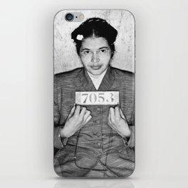 Rosa Parks Mugshot iPhone Skin