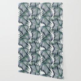 Tropical Leaves Green Wallpaper