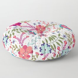 Colorful Floral Spring Pattern Floor Pillow