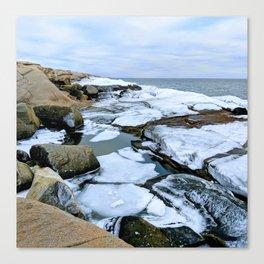 Ocean Ice Canvas Print