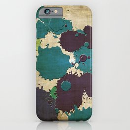 Abstract Lemonchiffon khaki splash iPhone Case