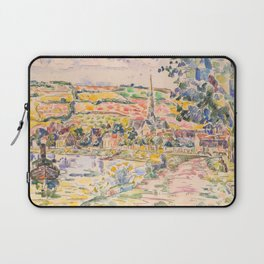"""Paul Signac """"Petit Andely-The River Bank"""" Laptop Sleeve"""
