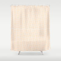 orange pattern Shower Curtains featuring Orange Pattern by SAM.Designs