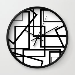 Pile Up White Wall Clock