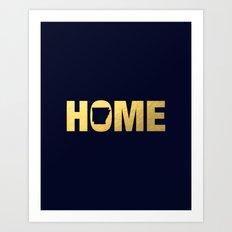 Arkansas home state faux gold foil print Art Print