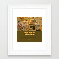 wes anderson Framed Art Prints featuring Moonrise Kingdom - Wes Anderson by Smart Store