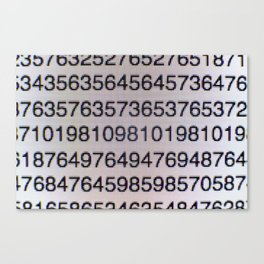 Numbers on a computer screen Canvas Print