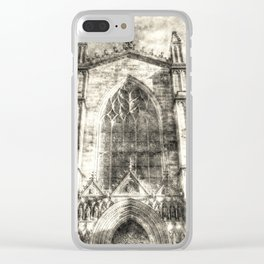 St Giles Cathedral Edinburgh Vintage Clear iPhone Case