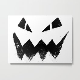 Jack-O-Lantern Black Metal Print