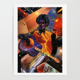 Galactic Guitarist Poster