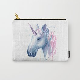 Blue Pink Unicorn Carry-All Pouch