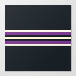 Classic Retro Stripes Asagi Canvas Print