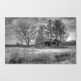Hidden Home in Black and White Canvas Print