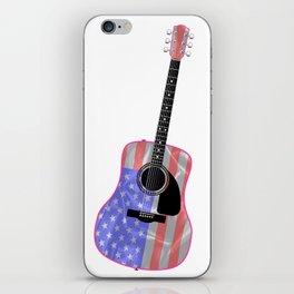 Stars and Stripes Guitar iPhone Skin