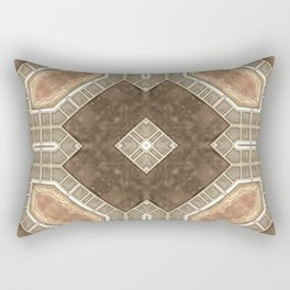Victorian Art Deco Medieval Pattern brown SB28 Rectangular Pillow