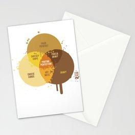 poutine venn diagram Stationery Cards