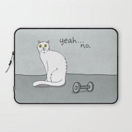 No Exercise Cat by Caleb Croy Laptop Sleeve