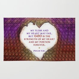 The Strength of My Heart Rug