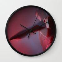 in the flesh Wall Clocks featuring Poem of Flesh by Elena Kulikova