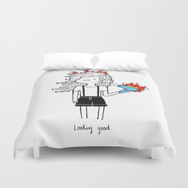 On Fire by Sarah Pinc Duvet Cover