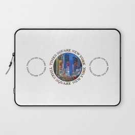 Times Square New York Triple Emblem (on white) Laptop Sleeve