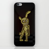 fnaf iPhone & iPod Skins featuring Springtrap's Gonna Get You by Kapika Arts