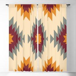 Aztec Southwestern pattern Navajo ornament Tribal Native American print Blackout Curtain