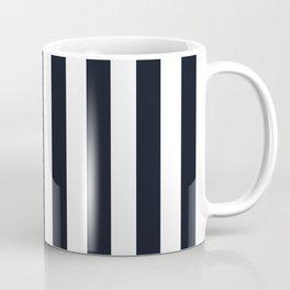 Vertical Stripes Black & White Coffee Mug