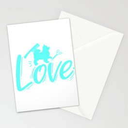Womens Dog Groomer Gift Print Love Pet Dog Grooming Print Stationery Cards