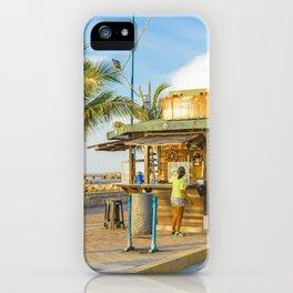 La Libertad Ciyt Malecon, Santa Elena, Ecuador iPhone Case