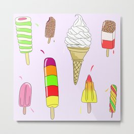 Ice Lolly Heaven Metal Print