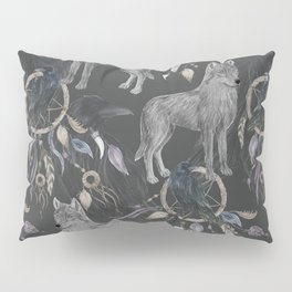 wolf and raven Pillow Sham