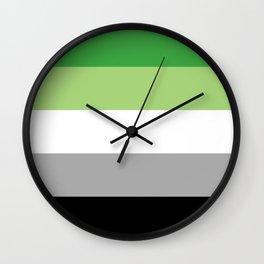Aromantic Flag Wall Clock