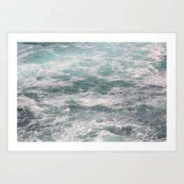 Blown Spume and Windrift Art Print