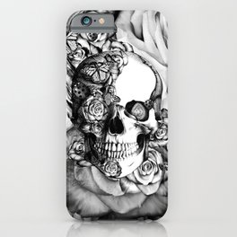 Butterfly rose skull with ladybugs. Good luck iPhone Case
